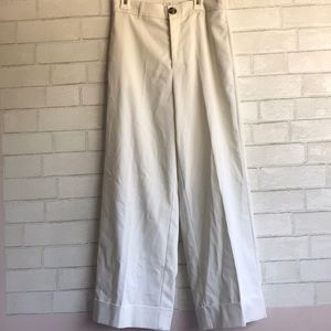 Zara White High Waisted Flare Pants